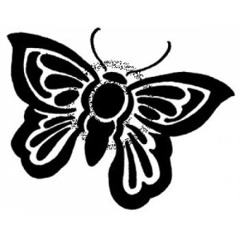 Solid Butterfly Cling Stamp