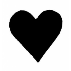 Solid Heart Cling Stamp