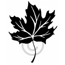 Solid Maple Leaf Cling Stamp
