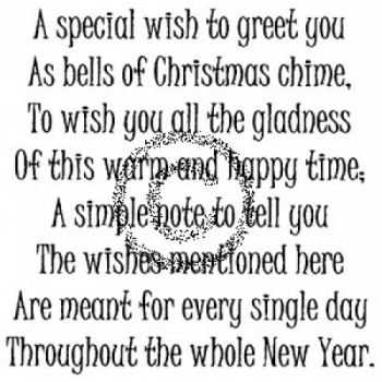 Special Wish Cling Stamp