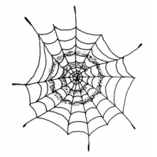 Spider Web Cling Stamp