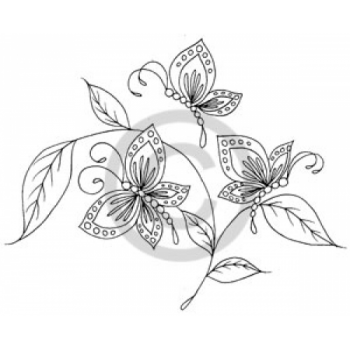Spring Butterflies Cling Stamp