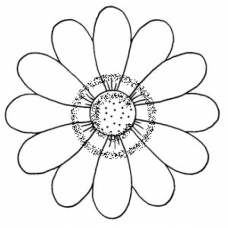 Spring Flower Lg. Cling Stamp