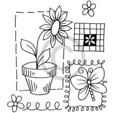 Spring Mix Cling Stamp