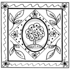 Spring Square Cling Stamp