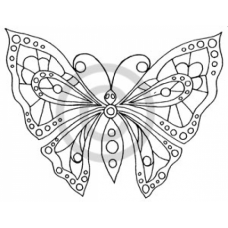 Stained Glass Butterfly Cling Stamp