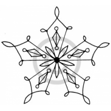 Star Snowflake # 1 Cling Stamp