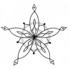 Star Snowflake # 2 Cling Stamp