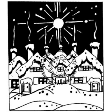 Starry Night Cling Stamp