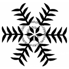 Stenciled Snowflake Cling Stamp