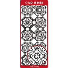 Sticker, Double Embossed Medallion Squares 2