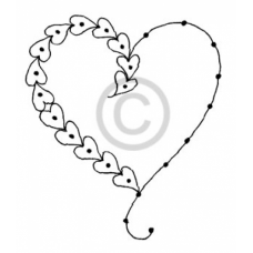 String of Hearts Cling Stamp