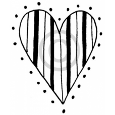 Stripe Heart Cling Stamp