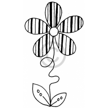 Stripe Patch Flower Cling Stamp