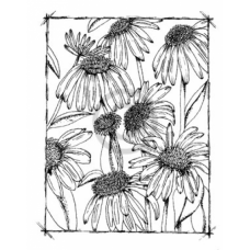 Summer Blooms Cling Stamp