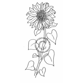 Sunflower Cling Stamp
