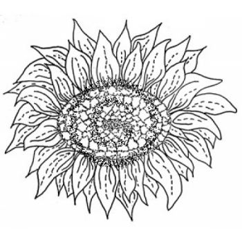 Sunflower Head Cling Stamp