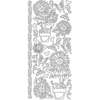 Sunflower Medley Outline Stickers