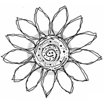 Sunflower Sketch Cling Stamp