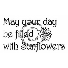 Sunflowers Cling Stamp