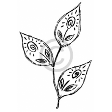 Sunny leaves Cling Stamp