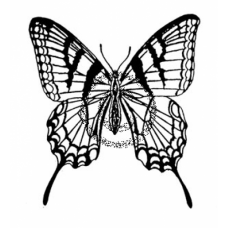 Swallow Tail Cling Stamp
