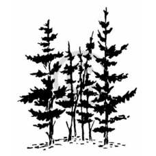 Swamp Pines Cling Stamp