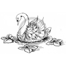 Swan Cling Stamp