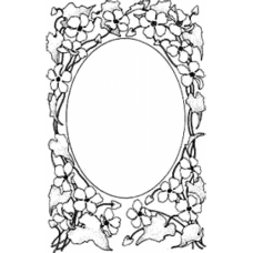 Sweet Pea Frame Art Acetate