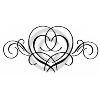 Swirly Heart Cling Stamp
