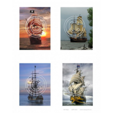 Tall Ships, Vintage Hues Art Acetate