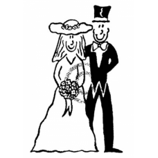 The Wedding (small) Cling Stamp
