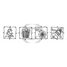 Traditional Christmas Images Cling Stamp