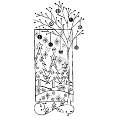 Tree and Balls Cling Stamp