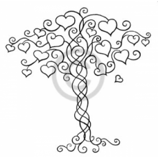 Tree of Hearts Cling Stamp