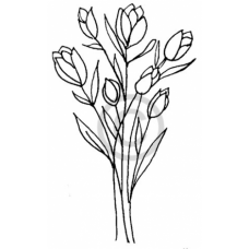 Tulip Bunch Cling Stamp