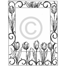 Tulip Frame Cling Stamp