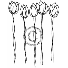 Tulips Cling Stamp