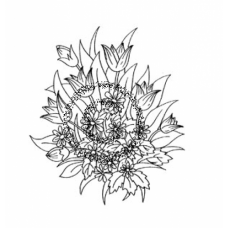 Tulips & Daisies Cling Stamp