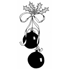 Twin Ornaments Cling Stamp