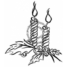 Two Candles Cling Stamp