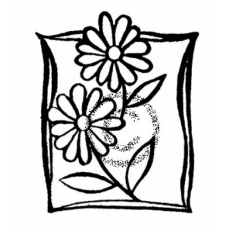 Two daisies Cling Stamp