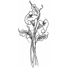 Two Lillies Cling Stamp