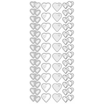 Two Tone Hearts Outline Sticker