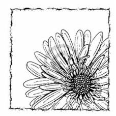 Up Close Flower Cling Stamp