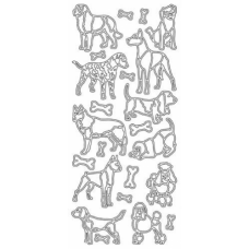 Various Dogs Outline Stickers