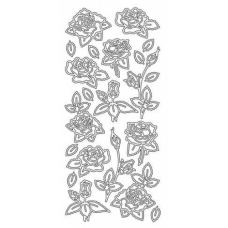 Various Roses Outline Stickers