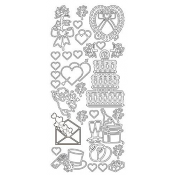 Various Wedding Designs Outline Stickers