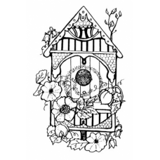 Victorian Birdhouse Cling Stamp