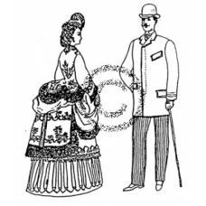 Victorian Couple Cling Stamp